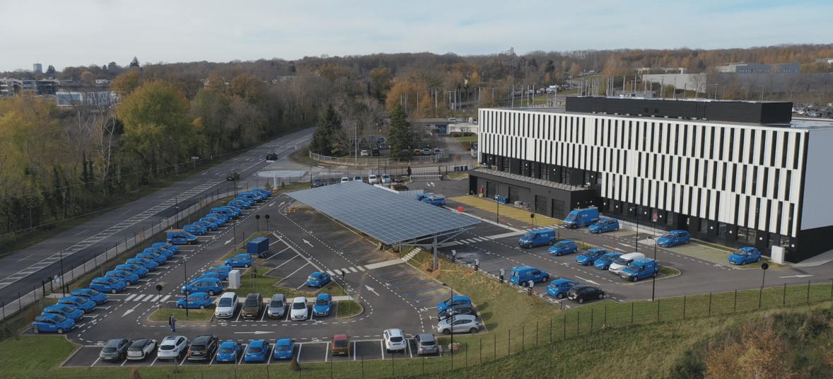 Nouvelle ombrière photovoltaïque pour ENEDIS