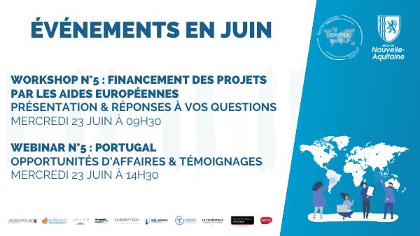 Workshop Financement des projets par les aides européennes (Sirena Startup)