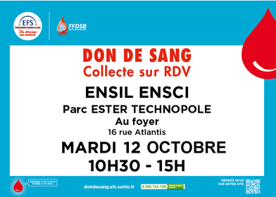 Don de sang - ENSIL